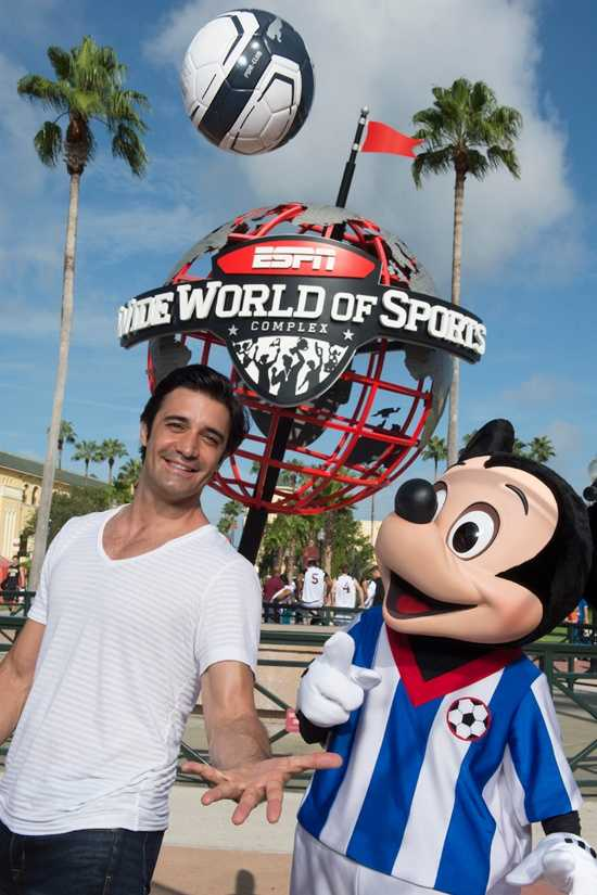 "Actor and ""Dancing with the Stars"" contestant Gilles Marini visited Disney's ESPN Wide World of Sports Complex on July 24, 2013. A big fan of the sport, Marini played amateur soccer in California while continuing his successful acting career."