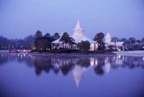 Disney's Fairy Tale Weddings officially opened Disney's Wedding Pavilion in July 1995.