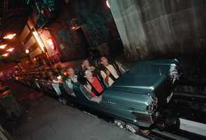 """The attraction allows guests to step into the shoes of a rock band VIP, and travel from Aerosmith's recording studio to the backstage area of their concert courtesy of a """"super-stretch"""" limo."""