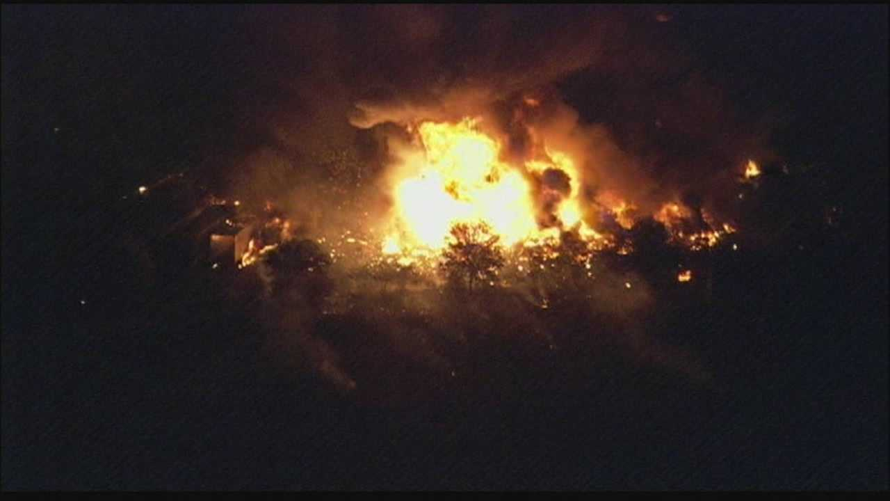 Several locals called WESH 2 to report seeing flames and hearing loud explosions in the Tavares area.