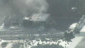 Chopper 2 flew over the aftermath of the Blue Rhino LP gas plant explosion on Tuesday morning.