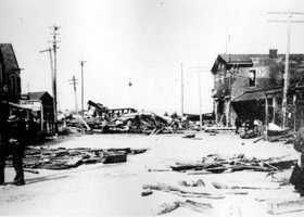 1896: Fernandina Beach was damaged by a hurricane.