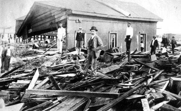 1896: Another shot of the damage from a hurricane in Fernandina Beach.