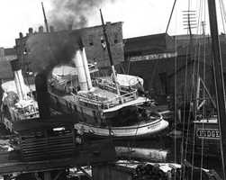 1906: The Monarch was pushed onto land after a hurricane in Pensacola.