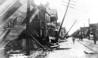 1908: Duval Street in Key West after a hurricane.