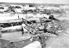 1935: A hurricane hits The Keys and causes massive damage.  Four hundred and eight people were killed during the category 5 storm.