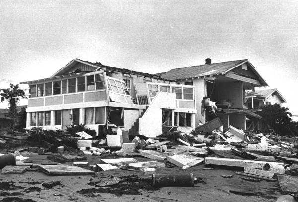 1964: Homes along the beach in Jacksonville were damaged by Hurricane Dora.