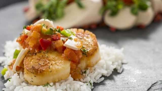 Newcomer #2: The all-new Brazil Marketplace menuBrazil took a year off in 2012, but returns this year with a complete menu makeover. This year we'll see two savory food items, a beer, a wine and a frozen drink featured. On the food site there's the seared scallop with a ragout of tomatoes, peppers, hearts of palm and steamed rice to look forward to (above), along with crispy pork belly served with black beans, onions, avocado and cilantro. Beverage choices include Cerveharias Kaiser Brewery Xingu Black Beer, Carnaval Moscato White and a frozen caipirinha with LeBlon Cachaca.