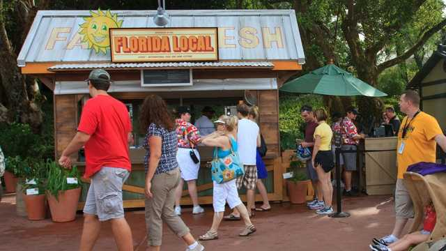Newcomer #5: Florida Grass Fed Beef Slider with Monterey Jack and Sweet & Hot Pickles, Florida Local MarketplaceThe Florida Local Marketplace returns to World Showcase for its sophomore year with a new menu item. I love the Florida-sourced food theme at this booth, and sliders and mini sandwiches are always a nice find around the lagoon.
