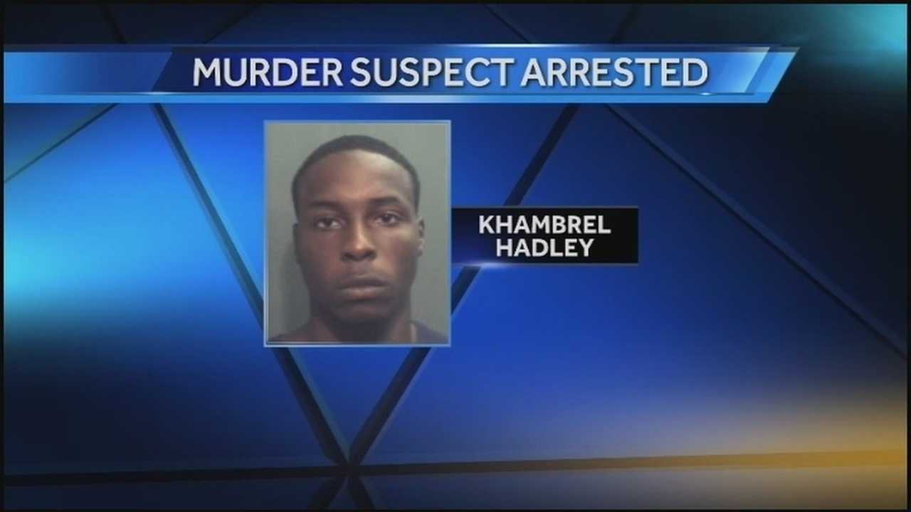 Authorities said Khambrel Hadley, 20, killed his girlfriend sometime this week in the Hunter Creek Apartments in Deland.