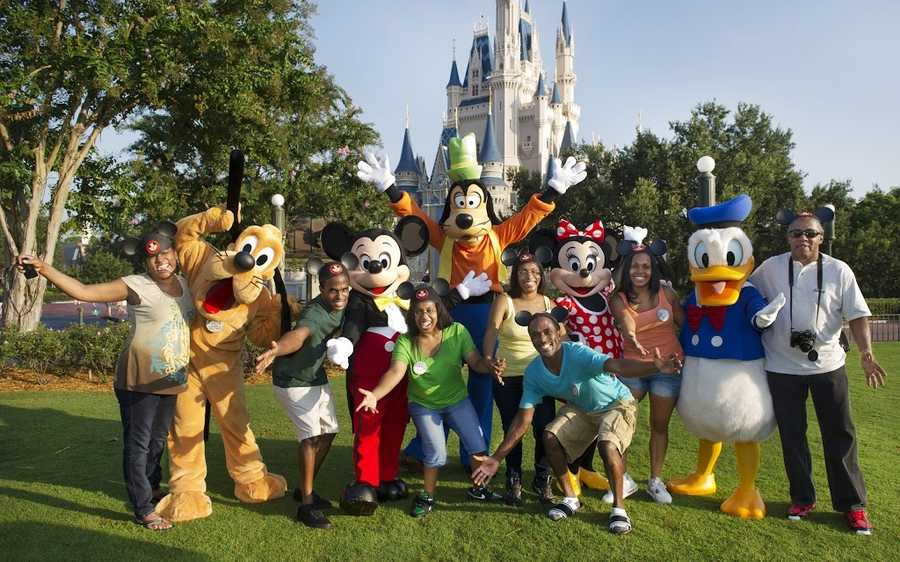 When the Gaither quintuplets celebrated their 30th birthdays this weekend, they partied with five of Central Florida's most famous characters.