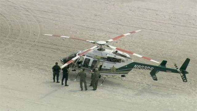 A Volusia County sheriff's helicopter made an emergency landing on the beach on Wednesday.