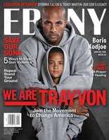 Boris Kodjoe and his son on Ebony's cover.