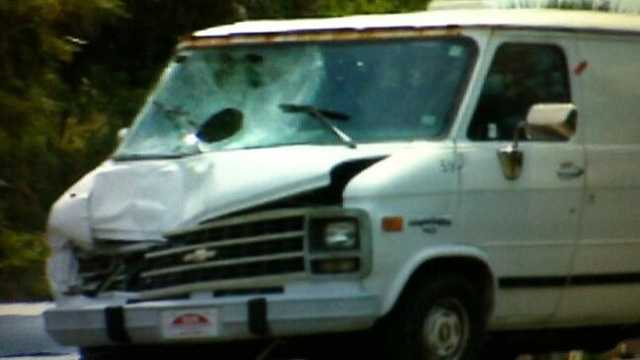 This is the van police believe was involved in a fatal hit and run.