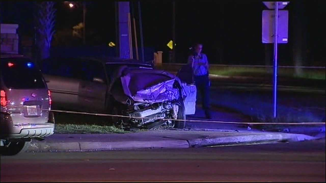 The search is on for a third man who deputies said took off running after a chaotic crash in Orange County.