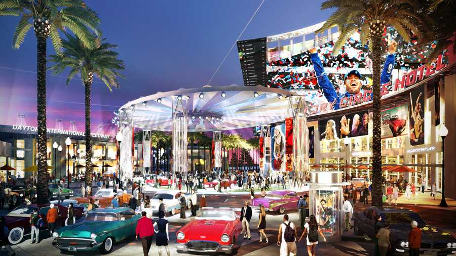A massive new entertainment complex is being planned right across the street from the Daytona International Speedway.