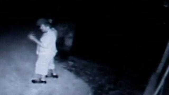 A burglar tried breaking into an Ormond Beach home, feet away from where the victim was sitting.