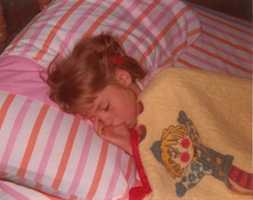 2. I sucked my thumb until the age of 6, despite my denial to my parents. They snapped this picture as proof that I was still doing it in my sleep.