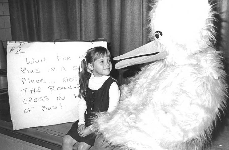 19. My first brush with the media was in first grade when the local newspaper published a photo of me with Big Bird at a school safety seminar.