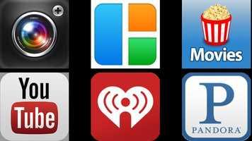 18. My favorite smart phone applications:Twitter - EchofonPictures - Pic Stitch, Camera+, ShutterflyMovies - FlixsterMusic - Pandora, YouTube, iHeartRadio