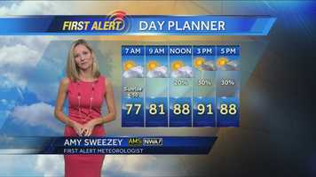 10. I wake up at 2 a.m. Monday-Friday for my job at WESH. I make my own forecast and graphics. I do my own hair and makeup. I select and pay for my own clothes.