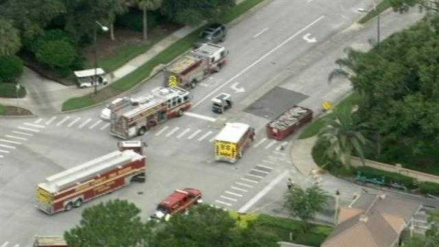 A ruptured gas line forced some guests at Orlando's Sheraton Vistana Resort to evacuate Friday afternoon.