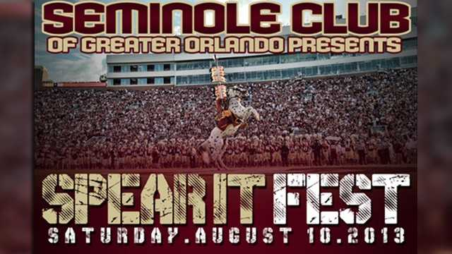 Seminole Spear-It Fest: Florida State students, alumni and fans can don their garnet and gold for the Orlando Nole Pub Crawl on Wall Street beginning at 8 p.m. Saturday.
