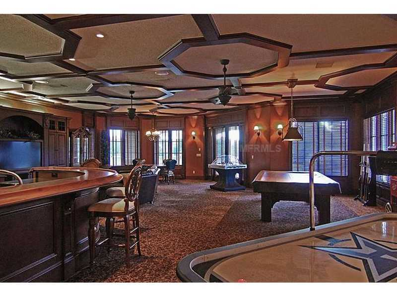 Game room and parlor is not only massive, but also provides panoramic views with it's eight windows.