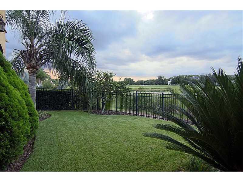 Gate between your property and the course provides privacy.