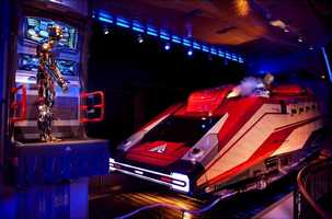 Star Tours - The Adventures Continue: Blast off on a thrilling tour of the Star Wars universe aboard a Starspeeder 1000. Voyage to amazing alien worlds -- like Tatooine, Naboo or Hoth -- and come face to face with the likes of Yoda, Princess Leia or even Darth Vader.