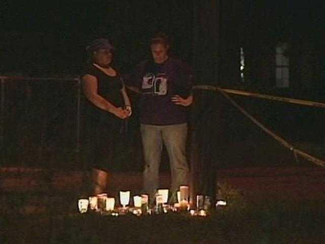 April 20, 2011: A vigil is held for Seath Jackson.