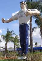 Big John in Cape Coral: Big John has stood in front of the plaza that bares his name since 1966. He stands 28 feet tall and weighs 6,000 pounds.