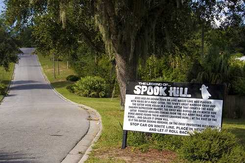 Spook Hill in Lake Wales: Spook Hill is known worldwide for an off phenomenon that many say is haunted.  Visitors can park their cars at the bottom of the hill, place it in neutral and see as their car seems to defy gravity and be pushed up to the top of the hill.
