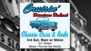 Cruisin' DeLand: Downtown's East Indiana Avenue will host a car show, music and giveaways beginning at 3 p.m. The event is free.