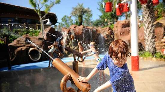 3. Uwanja Camp at Samawati Springs Pool, Disney's Animal Kingdom Villas – Kidani Village - Features: Animal-observation theme, leaky buckets, water cannons