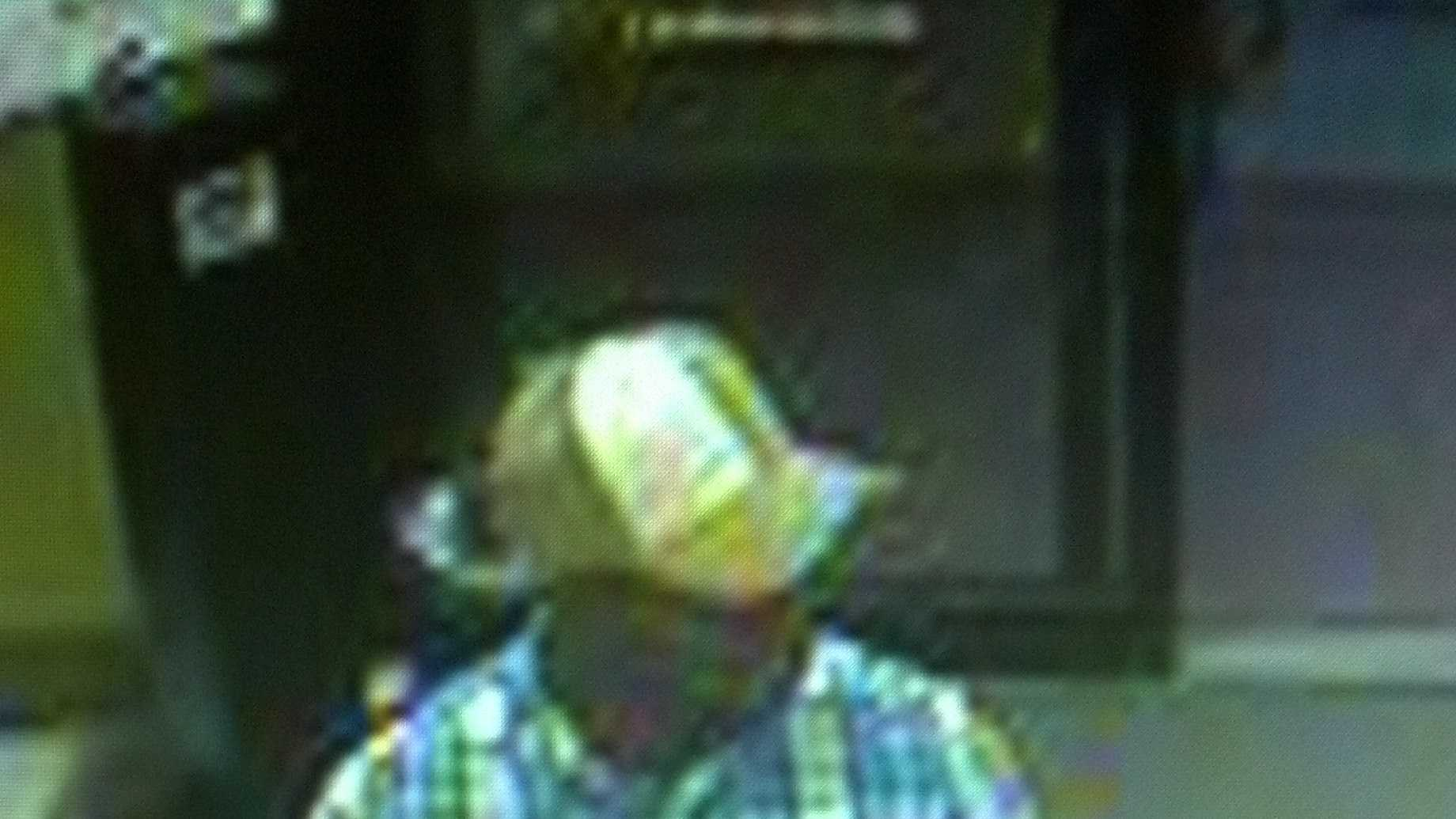 This man is suspected of robbing the Sharps Liquor store Monday.
