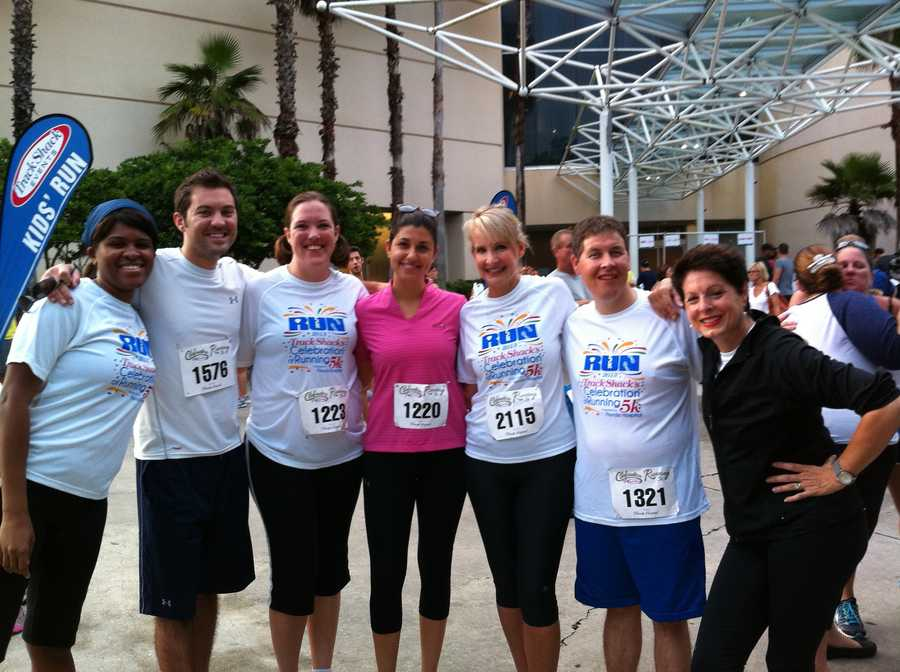 Staff from WESH-TV participate in Saturday's Track Shack 5K.