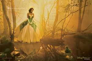 "Academy Award-winner Jennifer Hudson was captured by photographer Annie Leibovitz as Disney princess Tiana. The picture is entitled, ""Where you always follow your heart."""