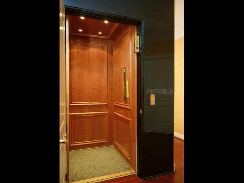 Imported granite from India is also featured in this home elevator.
