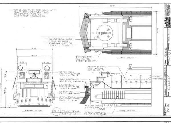 "A design document for the ""Havoc 2: Derailed"" house."