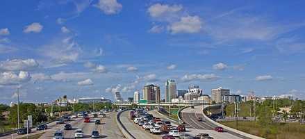 Orlando's main interstate - Interstate 4.