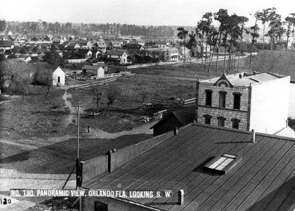 The Orlando skyline looking southwest in 1884.
