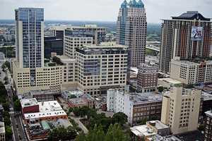 The Orlando skyline.