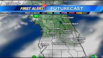 See an hour-by-hour look at rain expected on Labor Day.