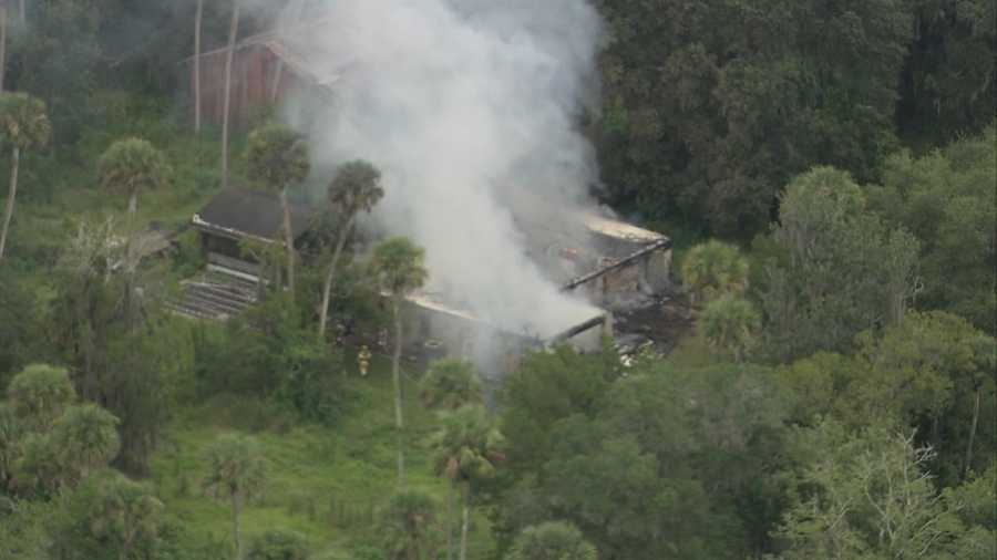 A house was destroyed by fire in New Smyrna Beach on Tuesday afternoon.