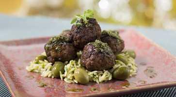 Three meat meatballs