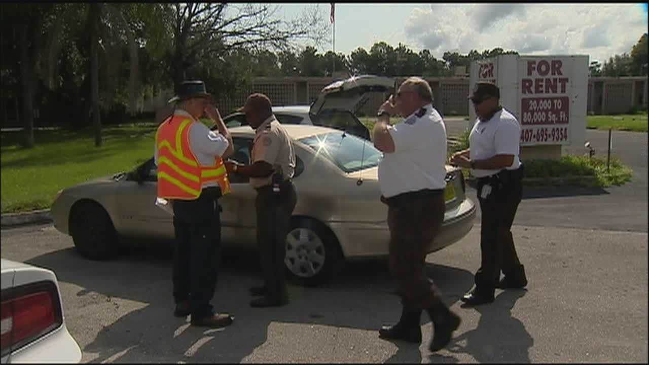 A man fleeing from authorities hit and injured a Department of Corrections prisoner doing road cleanup on Friday.