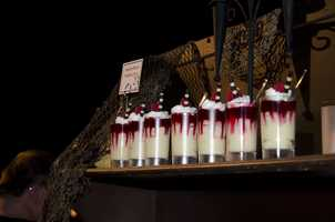 Vampire blood pudding cups