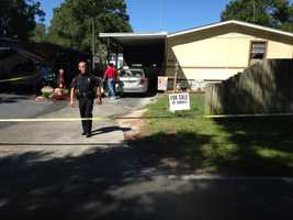 A neighbor called police after hearing gunshots at a home in the 300 block of Trafford Avenue.