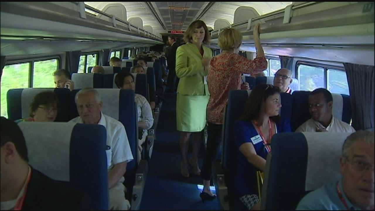 SunRail takes business leaders, politicians down track